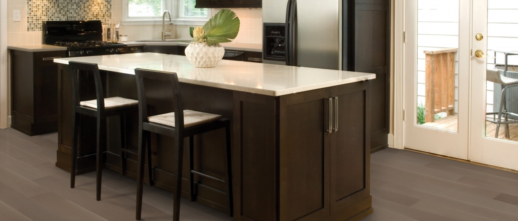 Kitchen Island with Cambridge Clay Oak Everest Designer Flooring