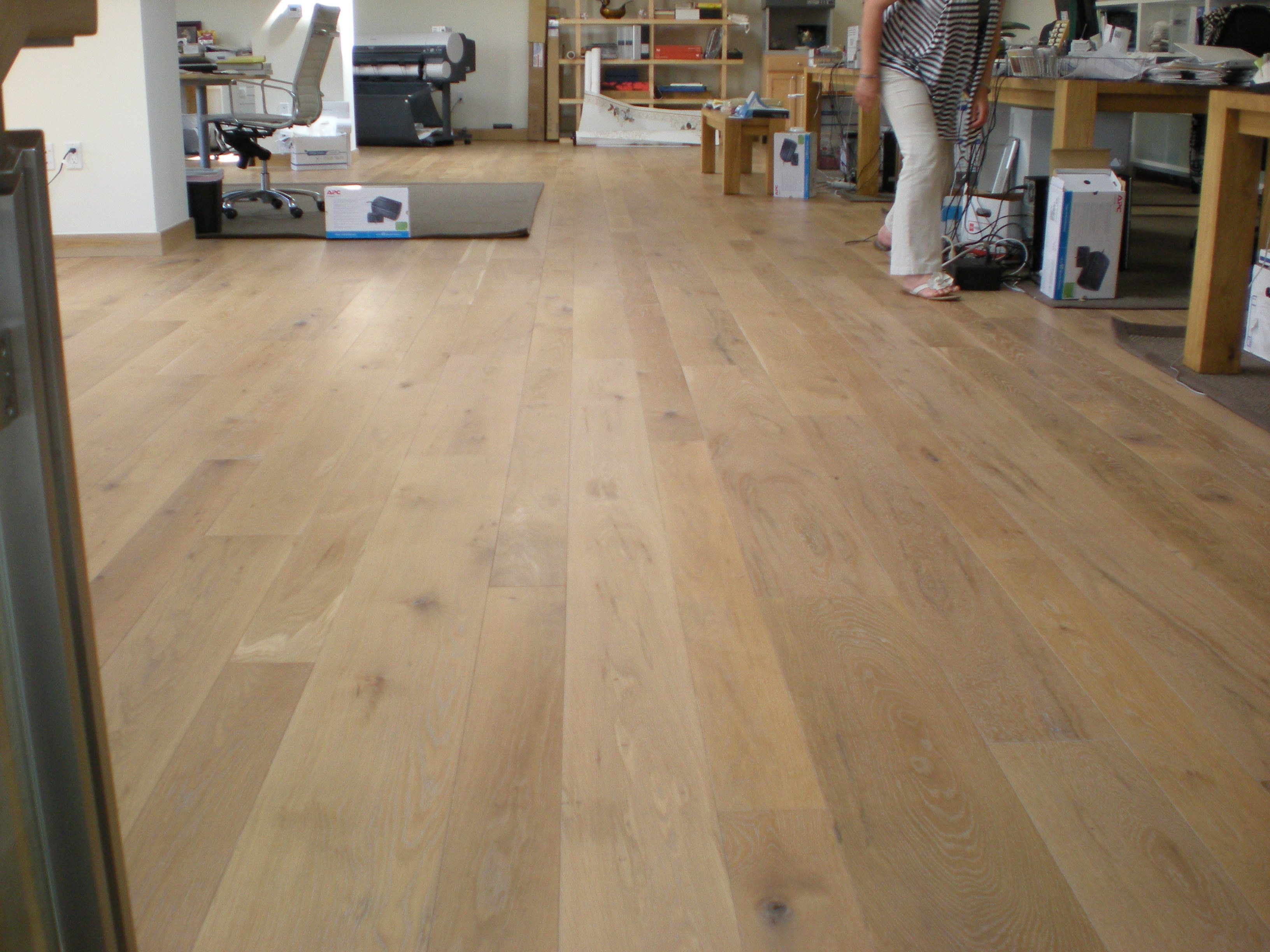 Rubio monocoat finishes one coat does it all carlisle for Wide plank wood flooring