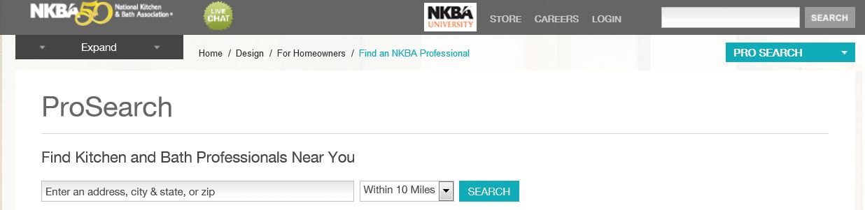 Find a NKBA professional in your area.