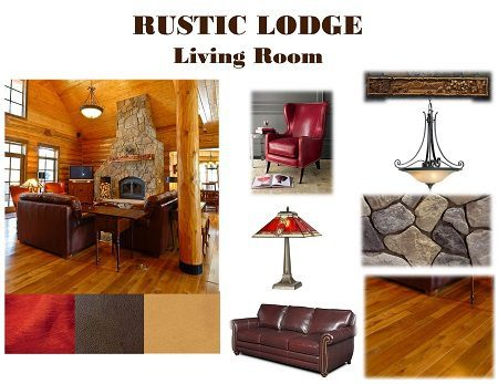 Design Boards – Rustic Lodge Living Room