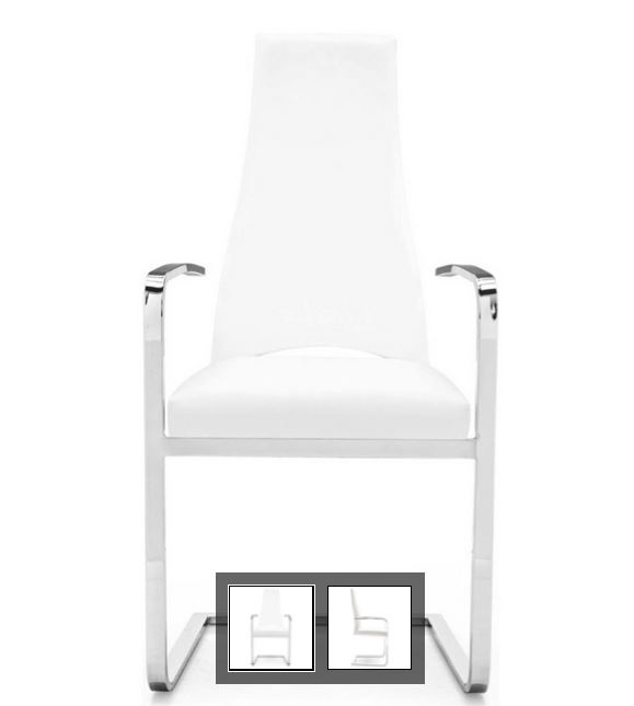Juliet Dining Chair in White on Carlisle Wide Plank Floors