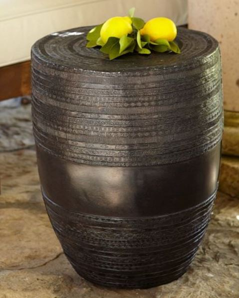 Metal Drum Accent Table from Pottery Barn