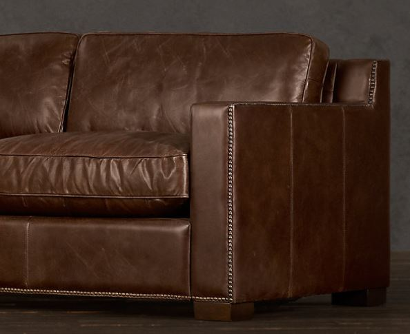 Dark Brown Leather Couch from Restoration Hardware