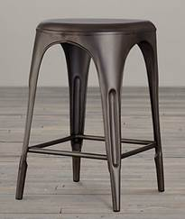 Restoration Hardware Remy Backless Stool on the Carlisle Wide Plank Floors Blog
