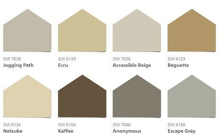 HGTV Neutral Nuance Collection from Sherwin Williams on Carlisle Wide Plank Floors