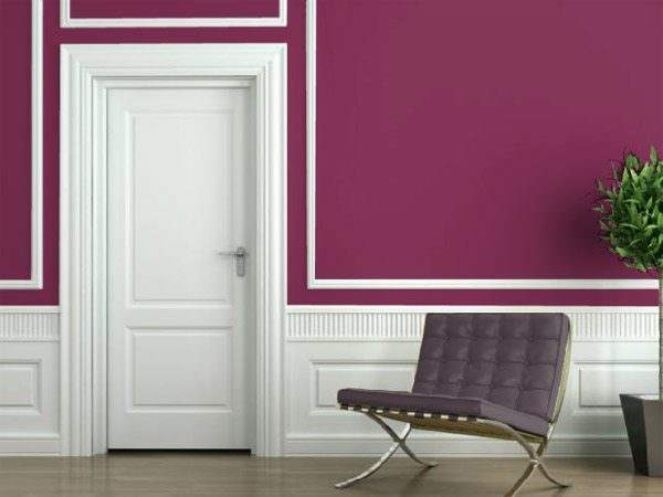 Radiant Orchid Walls from This Old House on Carlisle Wide Plank Floors Blog