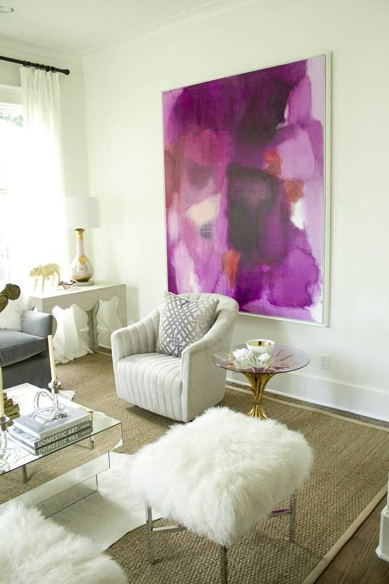 Radiant Orchid Interior Art on the Carlisle Wide Plank Floors Blog
