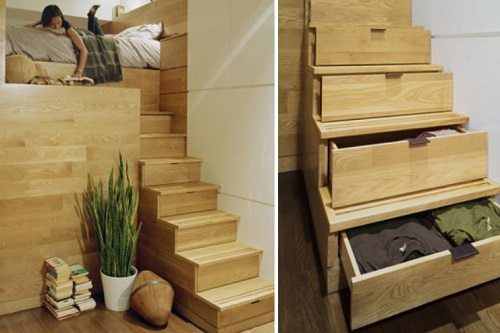 Stair Storage for Small Spaces designed by JPDA on Carlisle Wide Plank Floors Blog