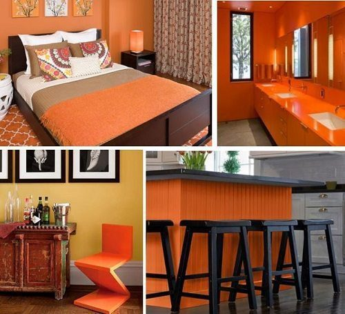 Pantone Celosia Orange Interiors from Carlisle Wide Plank Floors Blog