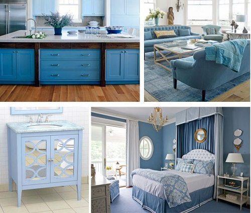 Pantone Placid Blue Interiors on Carlisle Wide Plank Floors