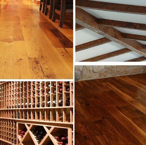 Dark Wood Flooring and Reclaimed Wood Flooring for Wine Cellars from Carlisle Wide Plank Floors