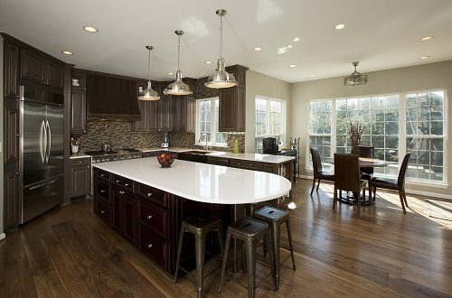 Dark Wood Flooring for Kitchens from Carlisle Wide Plank Floors
