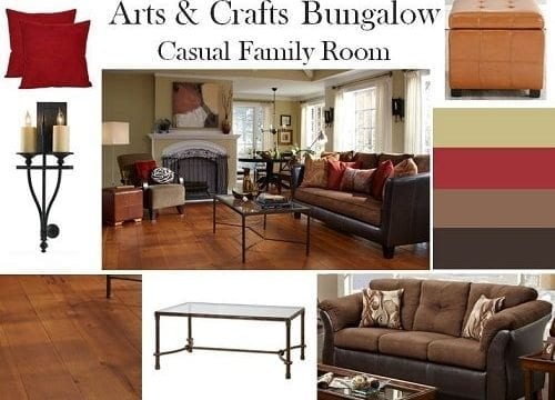 Design Boards: Arts & Crafts Bungalow Living Room