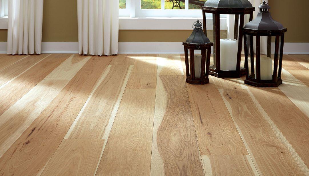 Wide Plank Hickory Floor