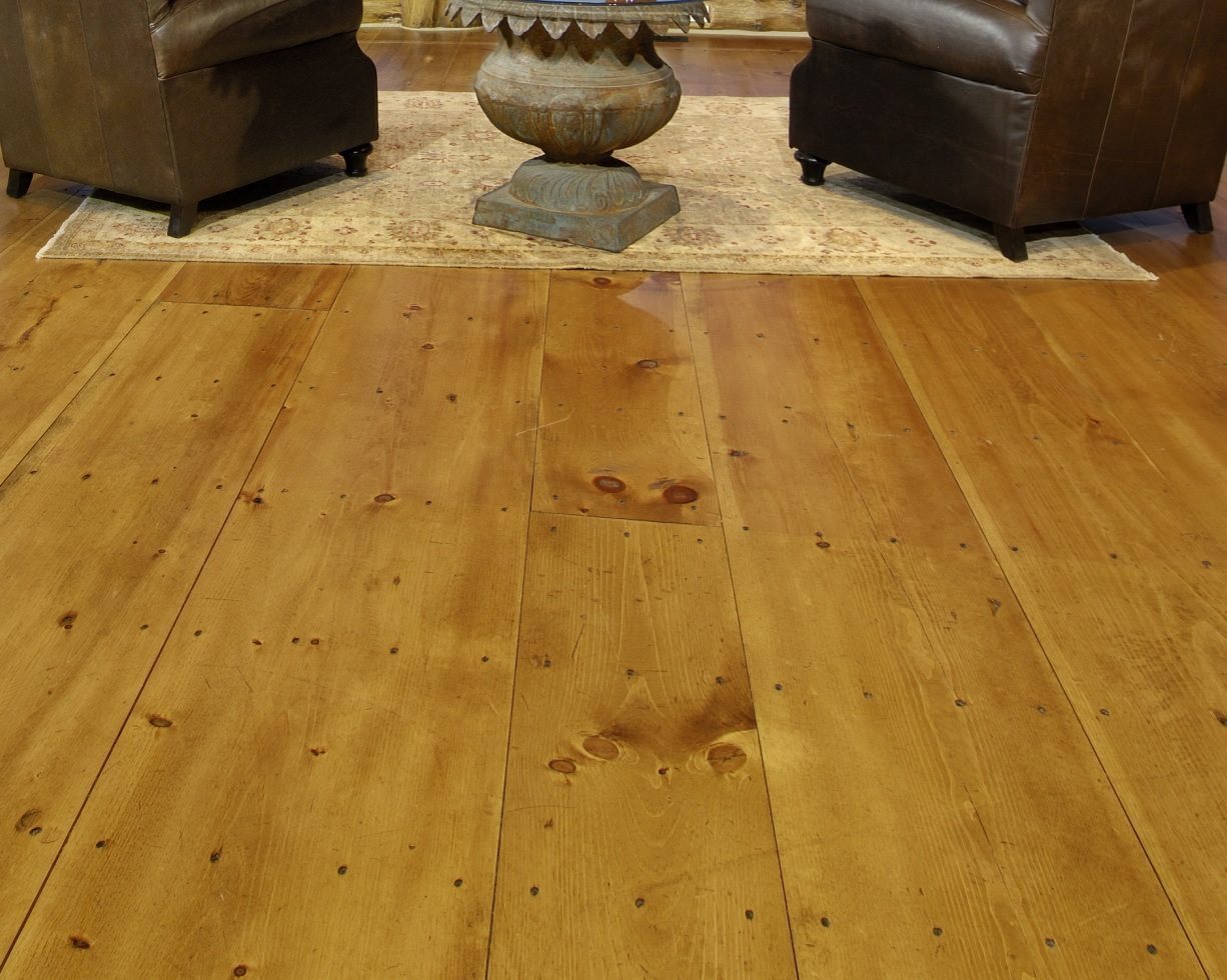 Wide plank pine floors stand the test of time with style for Pine wood flooring