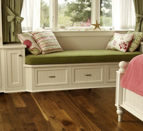 Reading Nook and Dark Wood Flooring from Carlisle Wide Plank Floors