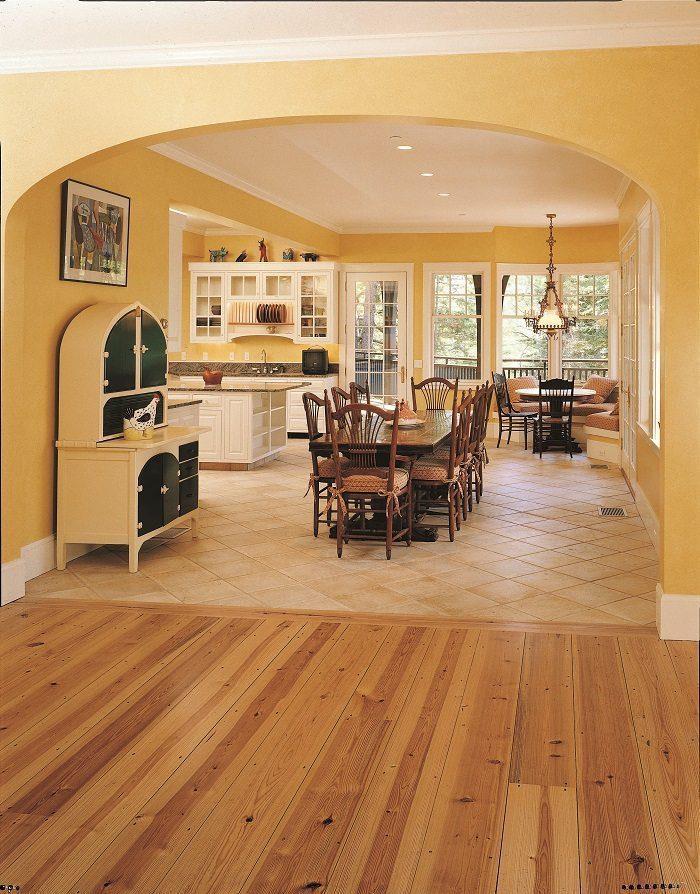 Heart Pine flooring from Carlisle Wide Plank Floors.