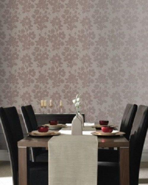 Kelly Hoppen Velvet Wallpaper on Carlisle Wide PLank Floors Blog