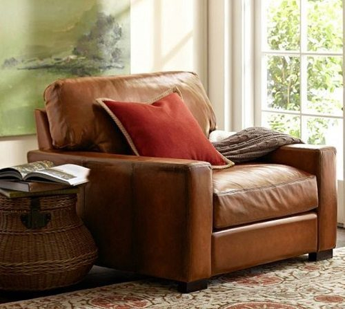 Turner Leather Armchair on Carlisle Wide Plank Floors Blog
