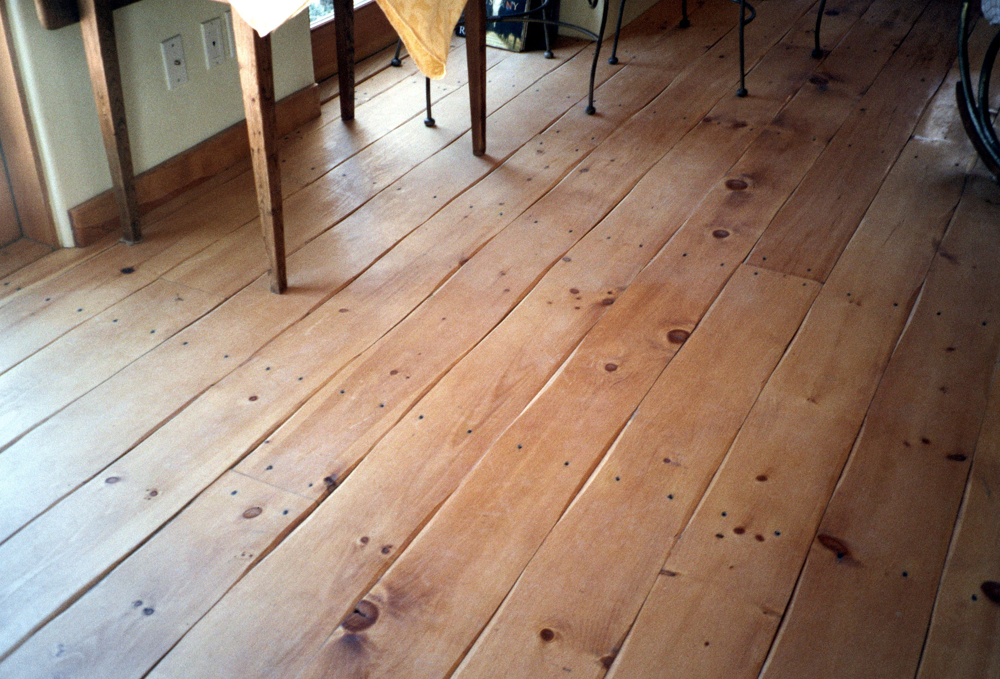 Eastern white pine floors in a dining room for Pine wood flooring