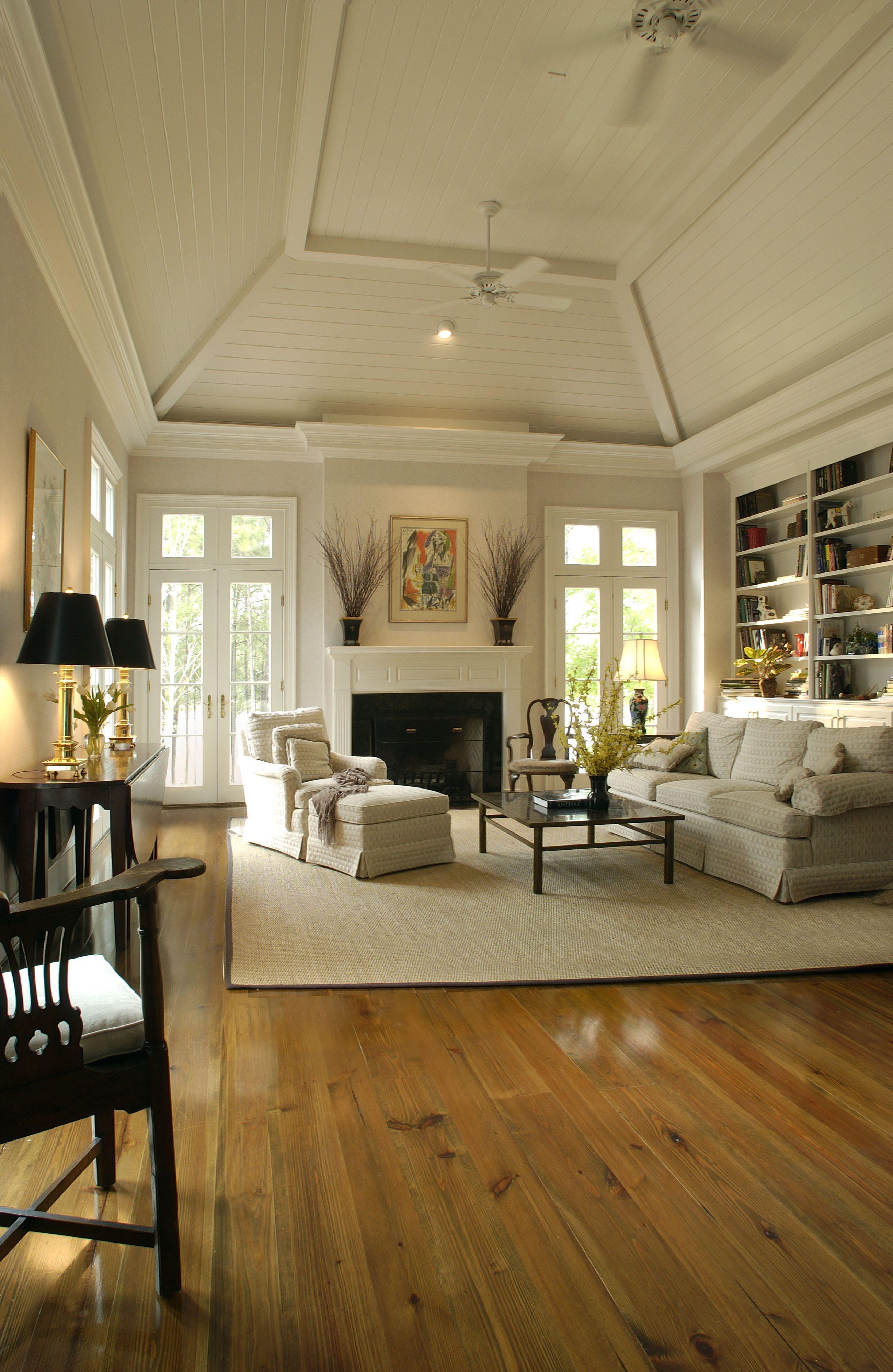 Heart Pine Floors In A Georgia Living Room