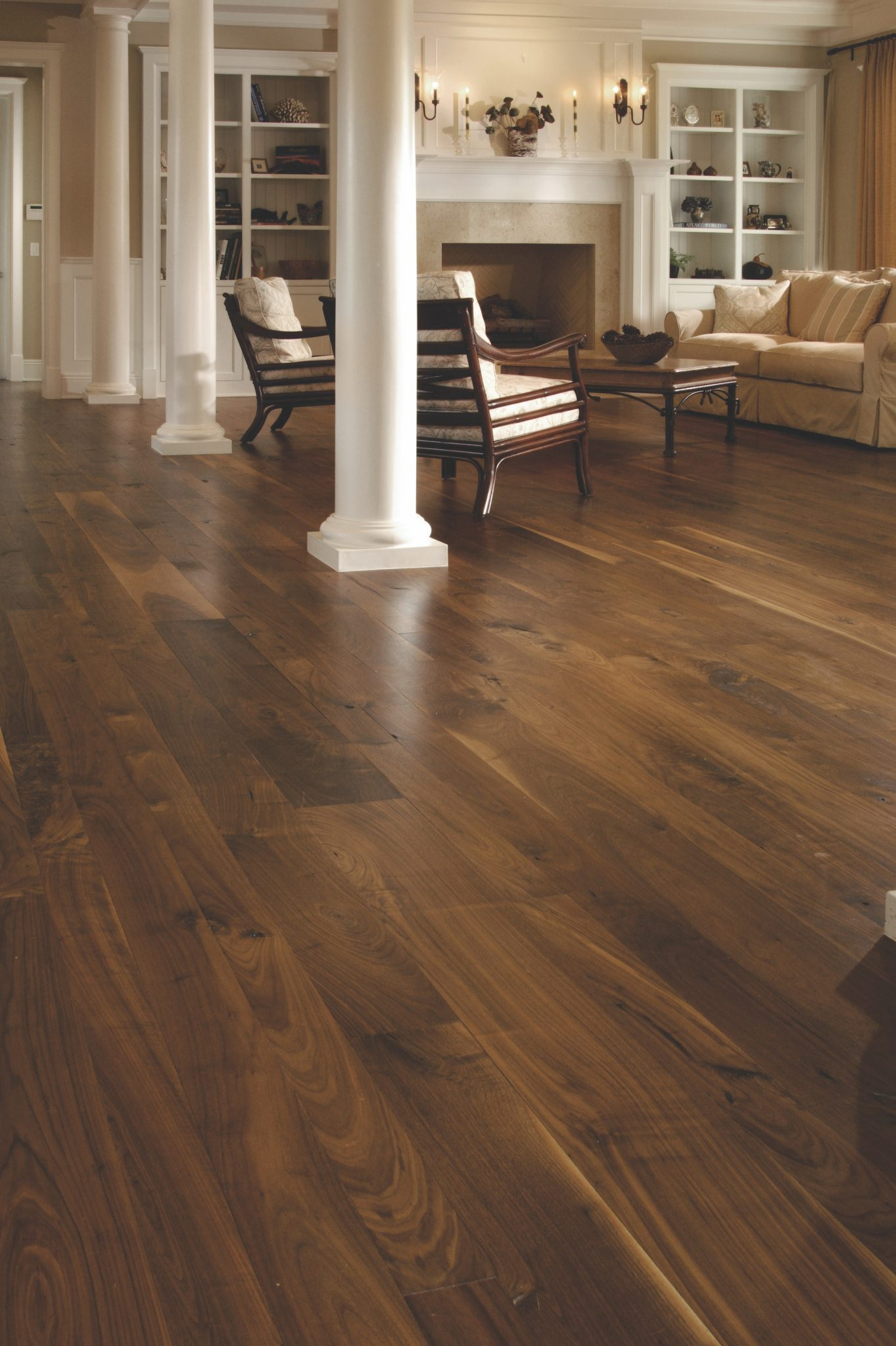 Walnut Flooring In A Living Room Carlisle Wide Plank Floors