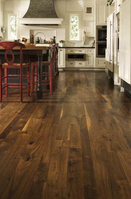 Site Finished Wide Plank Walnut, Walnut Wide Plank Flooring