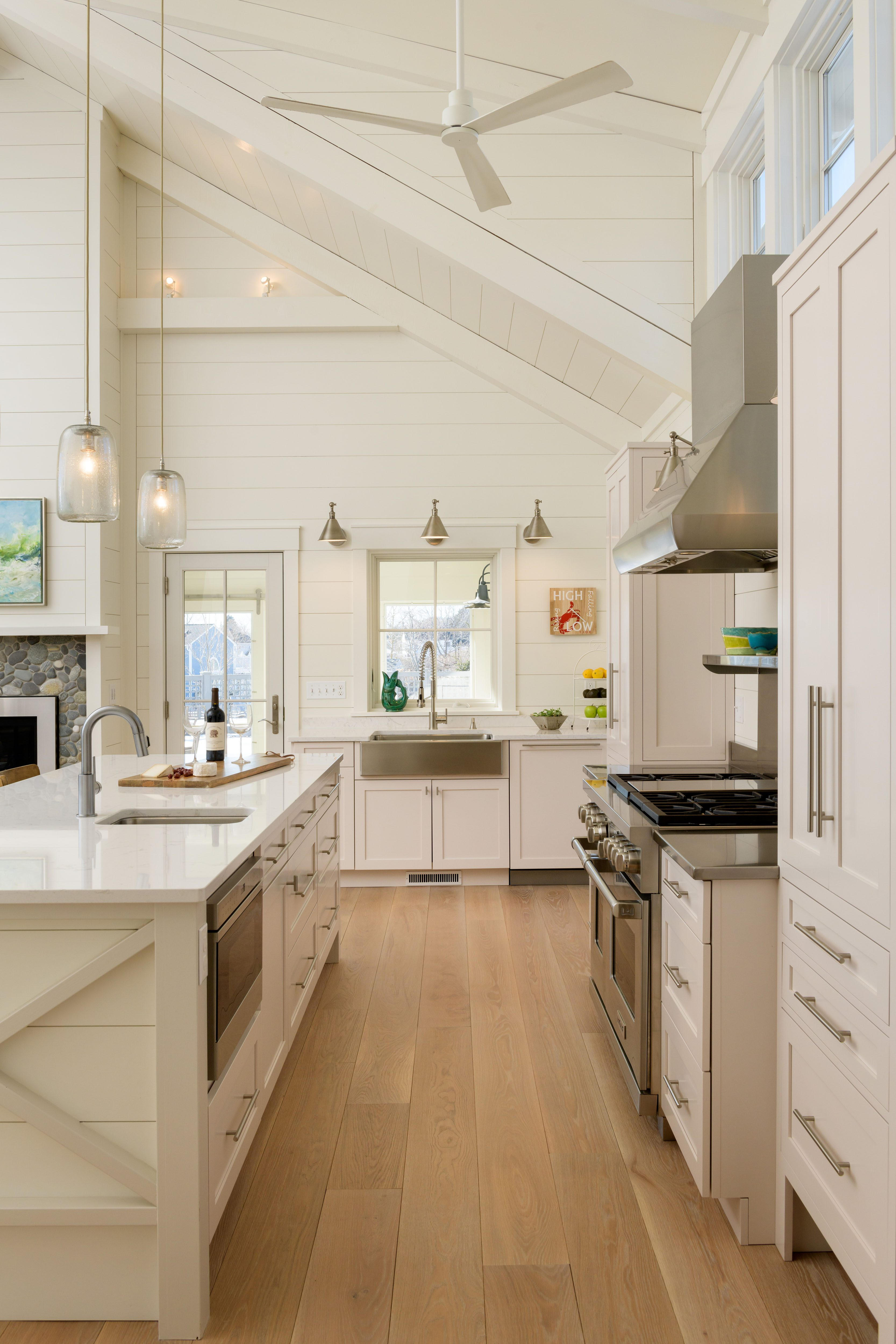 prefinished white oak floors in a welcoming new hampshire